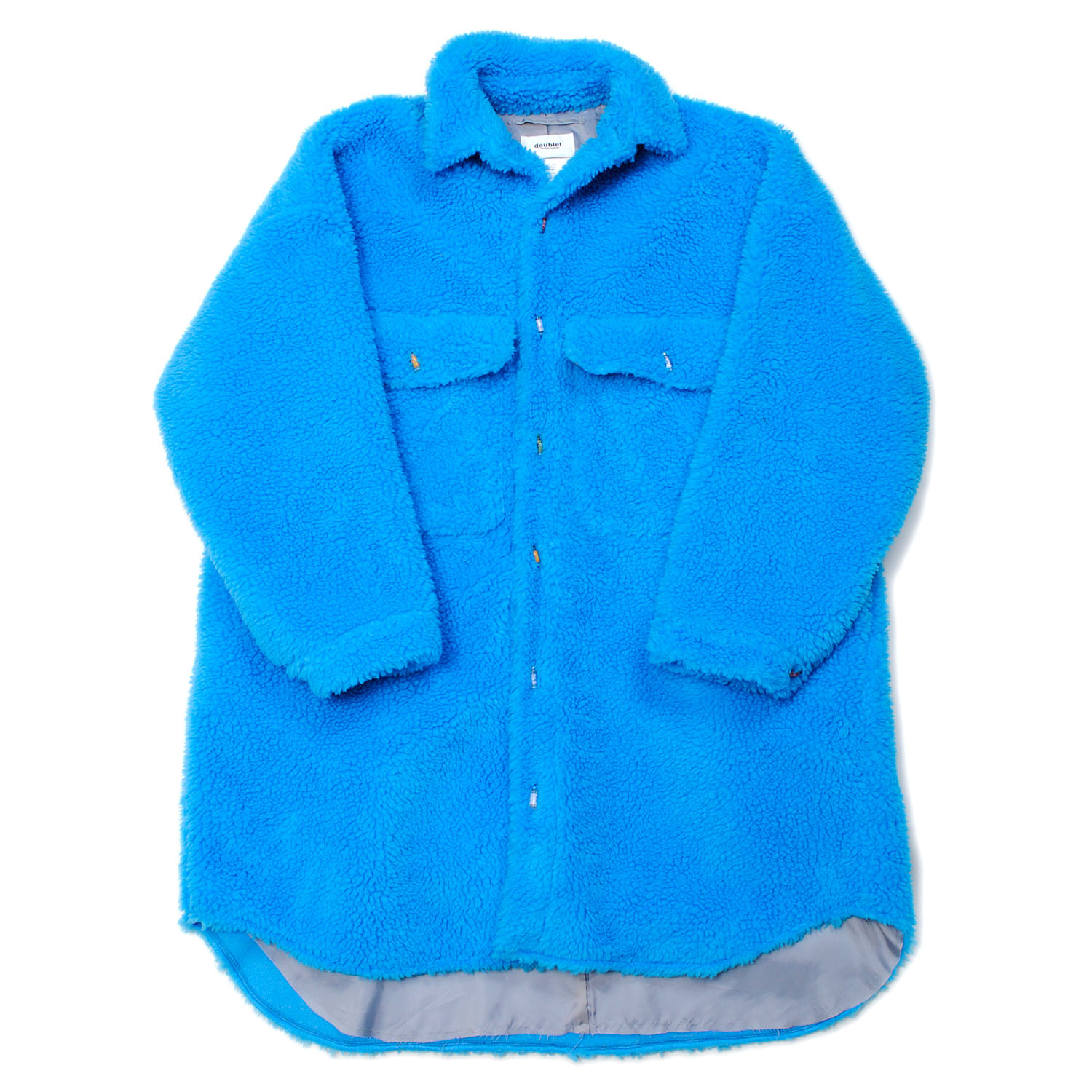 L.Blue Recycle Fur Oversized Shirt