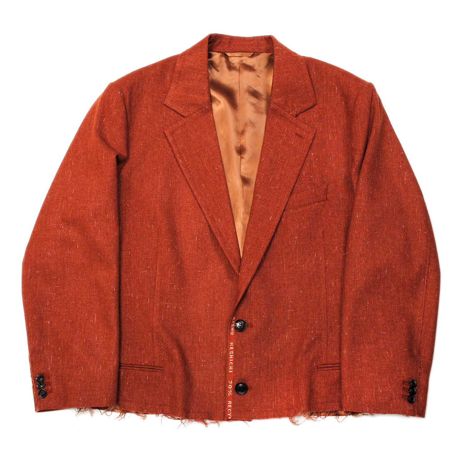 Brown Recycle Wool Tailored Jacket