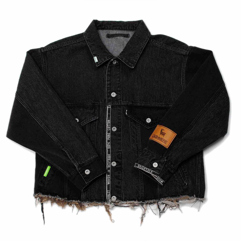 Black Upcycle Original Denim Patchwork Jacket