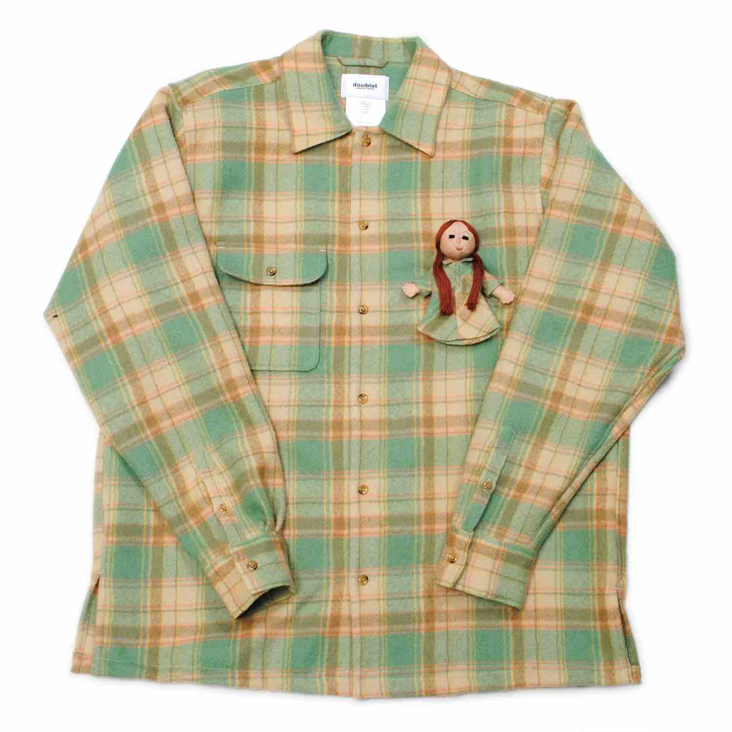Mint Check Shirt With My Doll