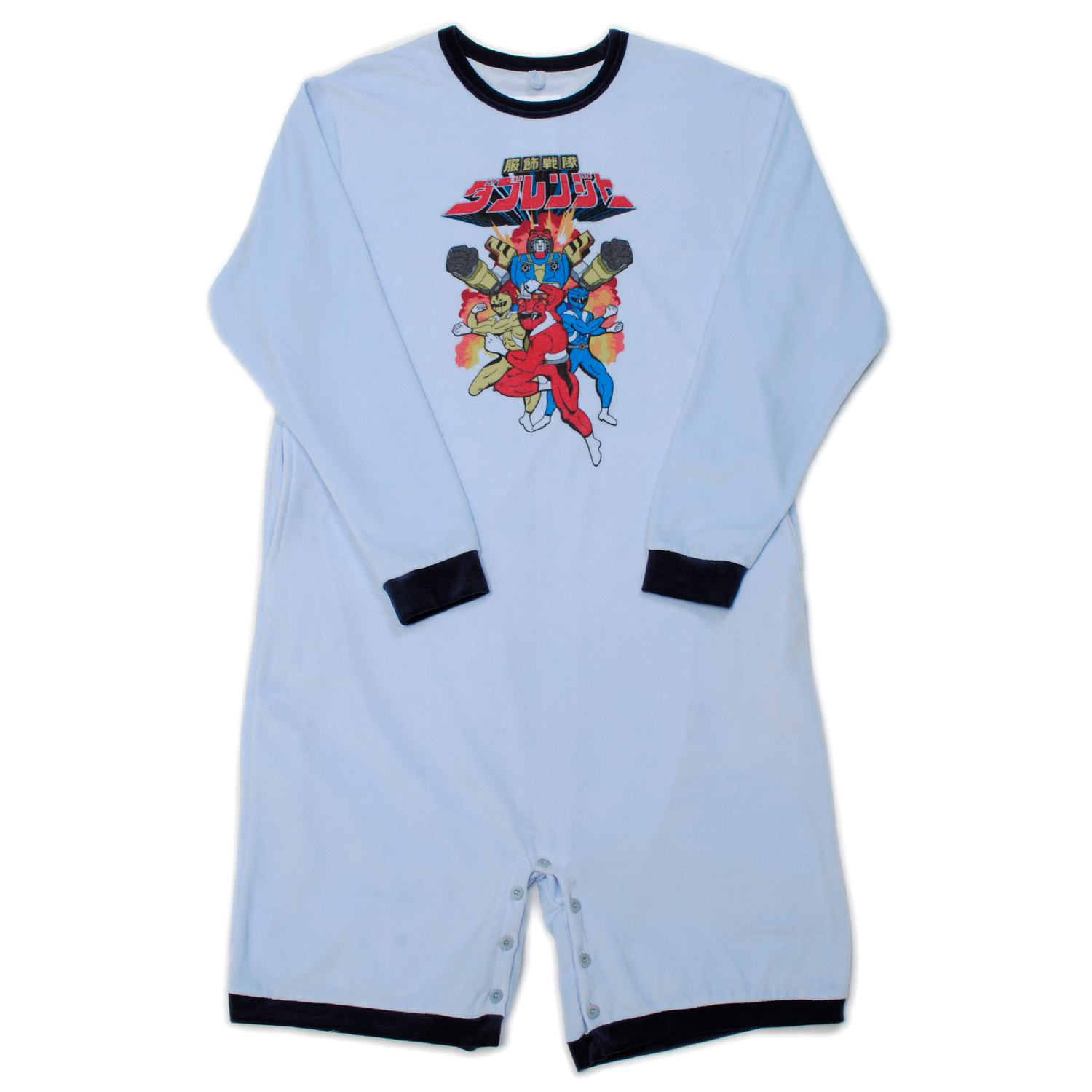 L.Blue Anime Character Velour Rompers