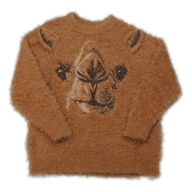 Camel Animal Embroidery Pullover