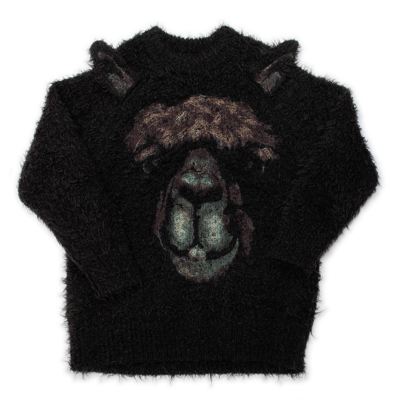 Alpaca Animal Embroidery Pullover