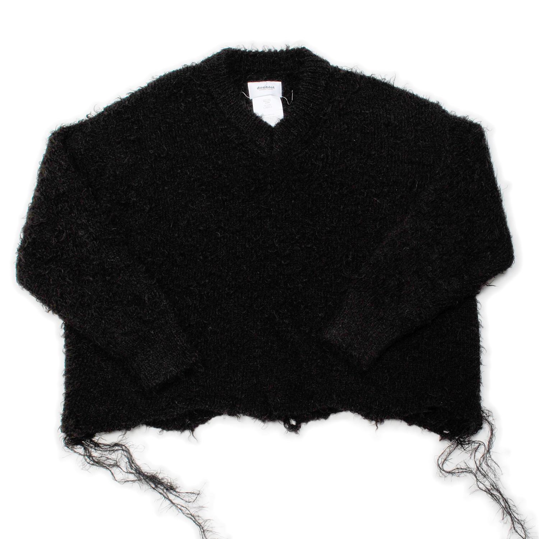 Alpaca Animal Fur Cut Off Pullover