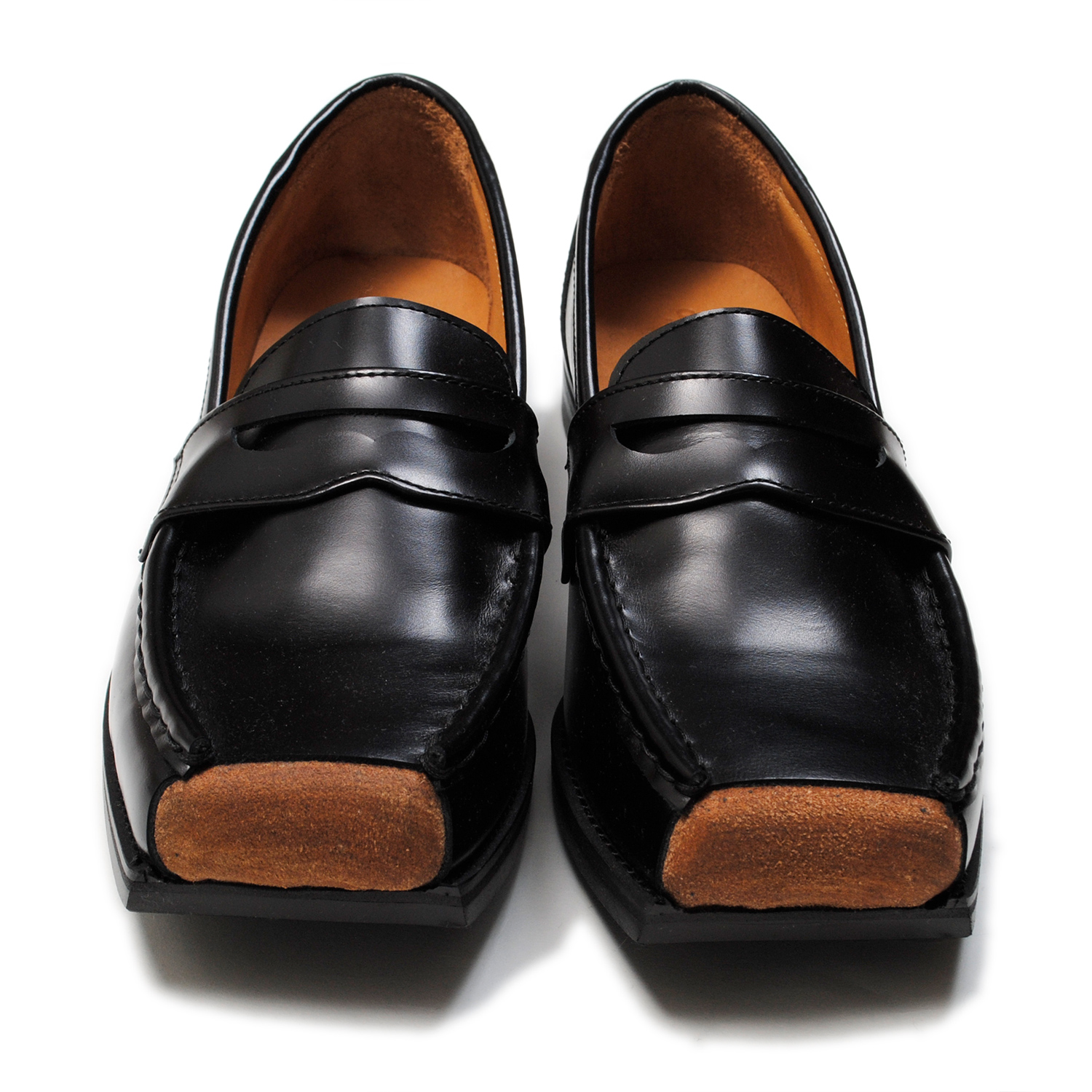 Black Cut Off Loafers