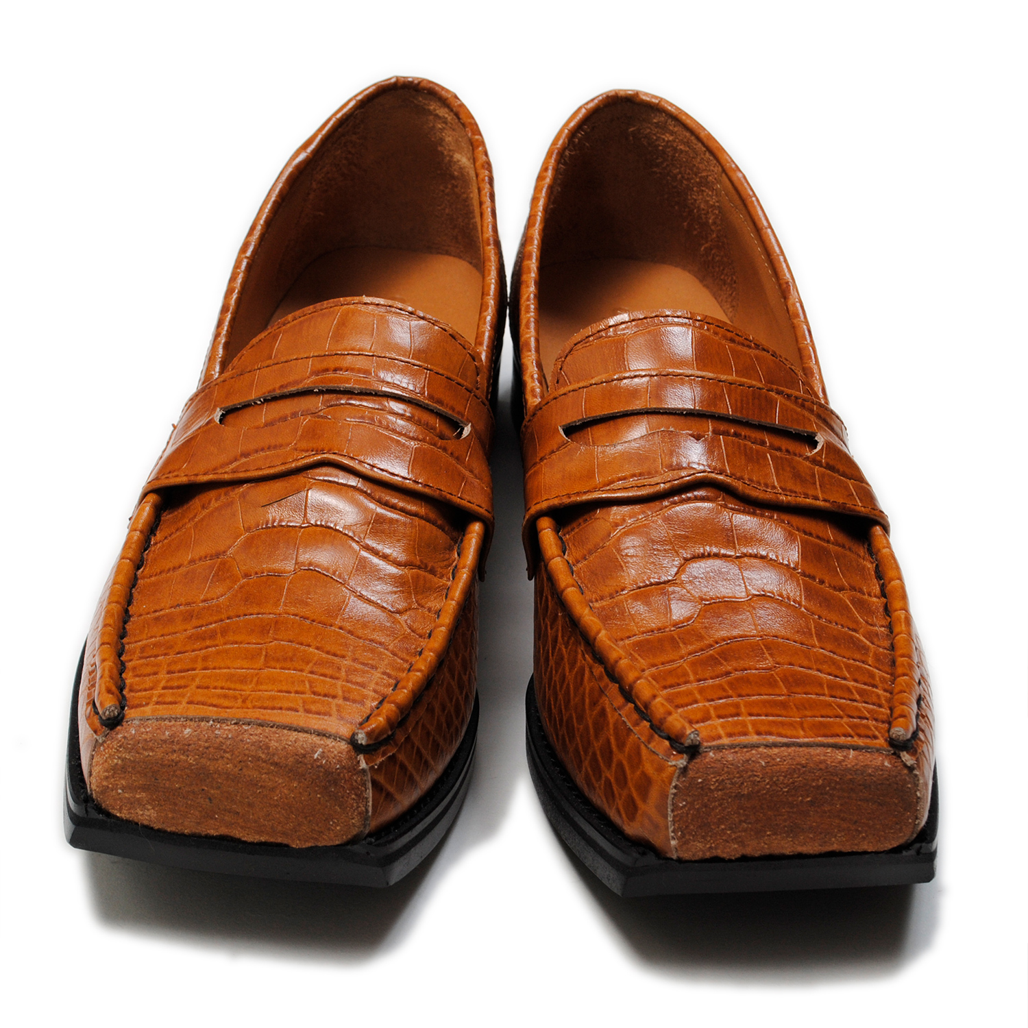Brown Cut Off Loafers