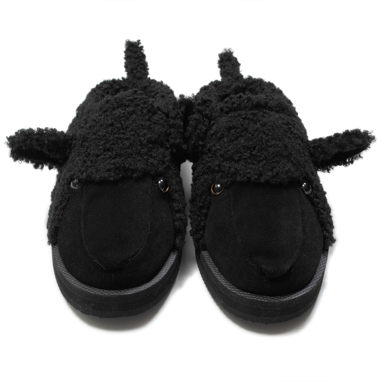 Black Stuffed Animal Slippers