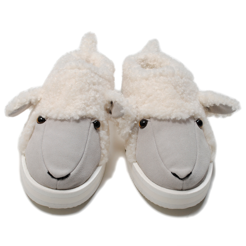 White Stuffed Animal Slippers