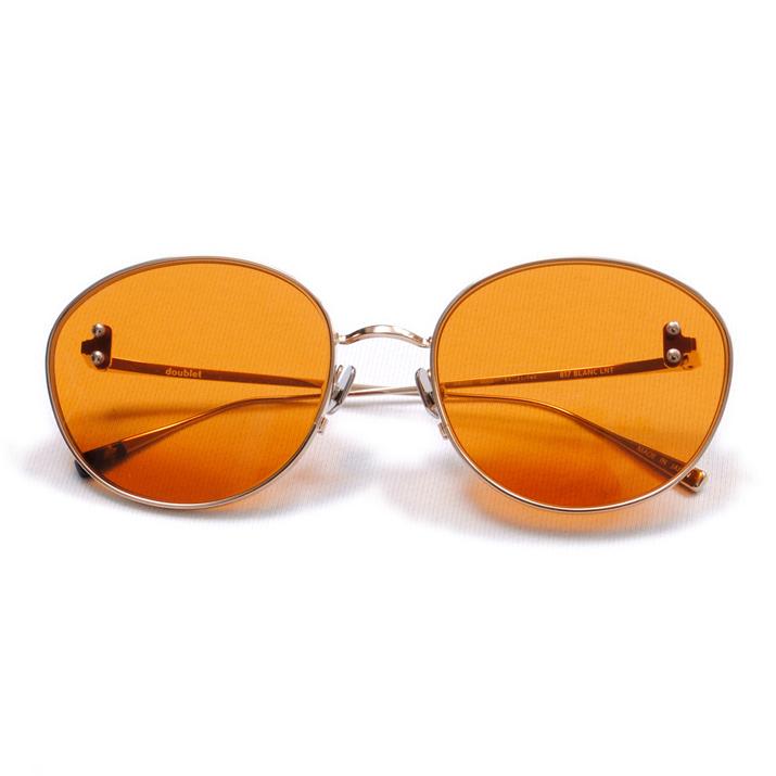 Brown Metal Flame Sunglasses